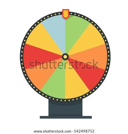 fortune wheel flat style blank template stock illustration, Powerpoint templates