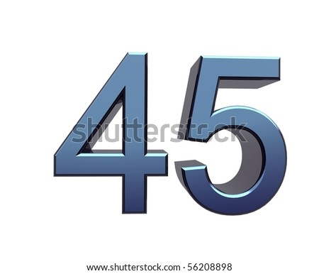 forty-five - stock photo