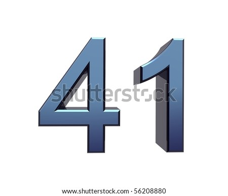 forty-one - stock photo