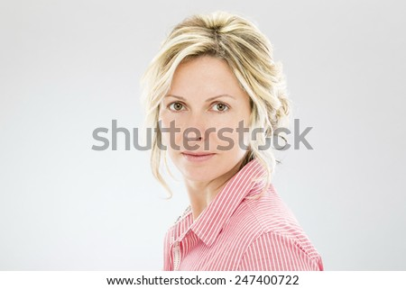 Forty years business woman - stock photo