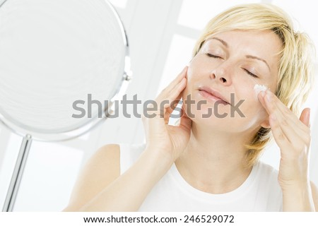 Forty years woman nursing  - stock photo
