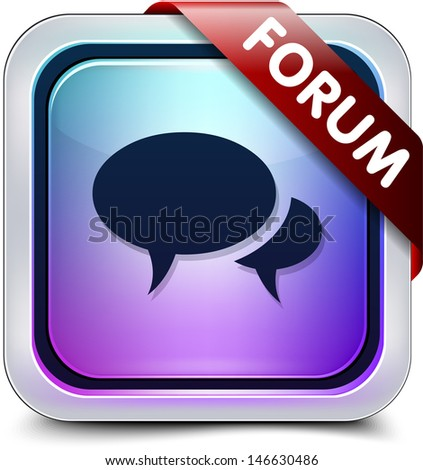 Forum button - stock photo