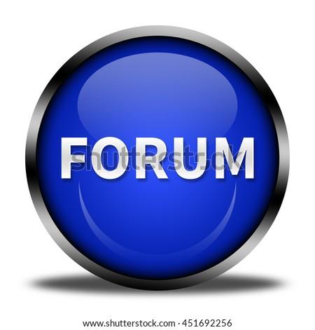 forum button isolated. 3D illustration  - stock photo