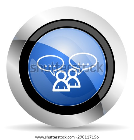 forum icon chat symbol bubble sign  original modern design for web and mobile app on white background  - stock photo