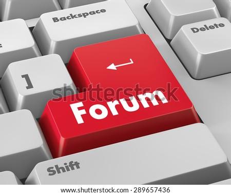 forum keyboard 3d render - stock photo