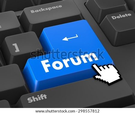 forum keyboard 3d render - stock photo