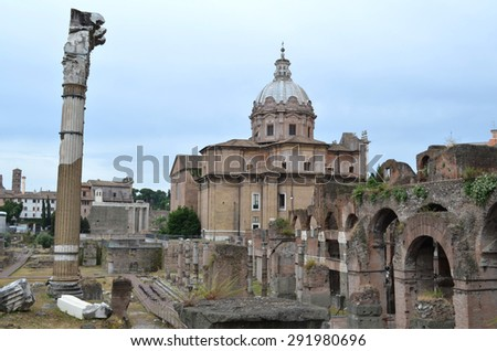 Forum of Caesar in Rome. Italy