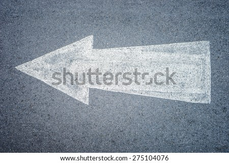 Forward direction on road - stock photo