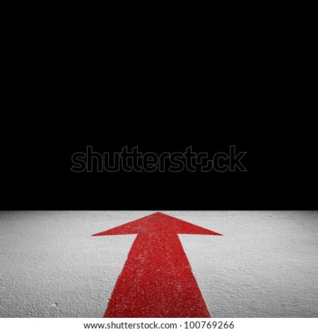 forward direction with space - stock photo