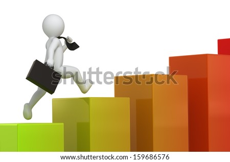forward to success, colored version - stock photo
