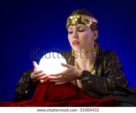 Fotune-teller with crystal ball