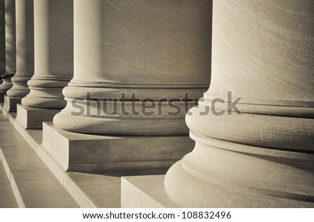 Foundation Pillars - stock photo