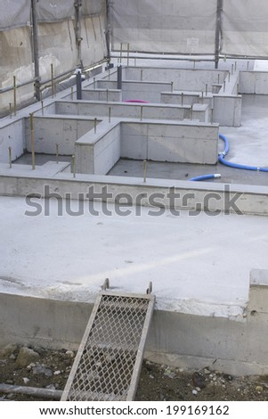 Foundation Work Of House Construction