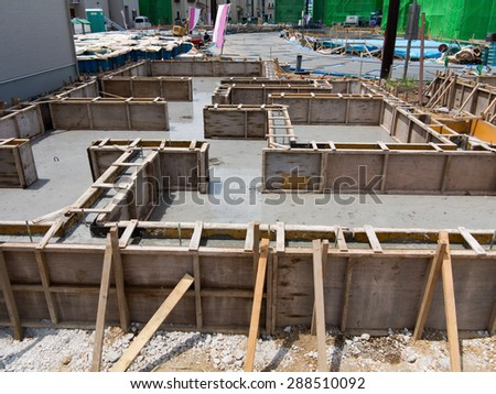 Foundation work of housing