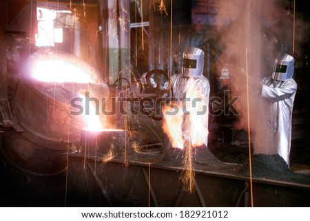 Foundry industry - stock photo