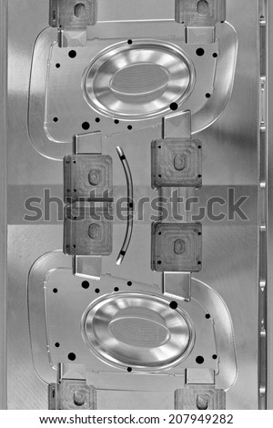 Foundry, sand molded casting, molding flasks . close up - stock photo