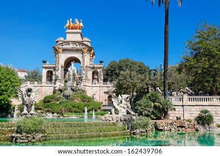 Fountain at Parc de la Ciutadella. Barcelona, Spain