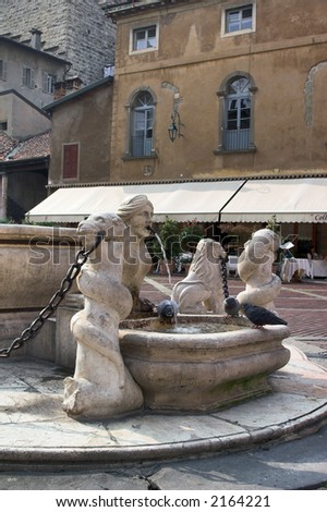 Fountain in Bergamo