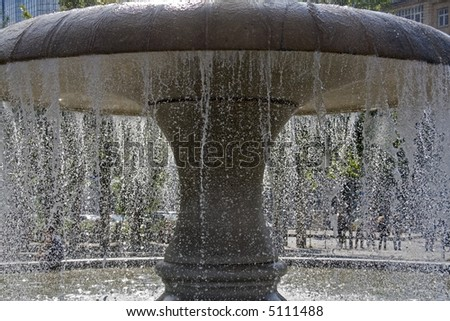 Fountain in City Frankfurt Germany - stock photo