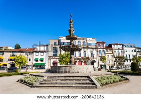 Fountain in the center of Braga, Portugal  - stock photo