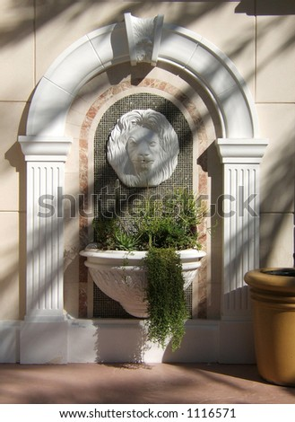 Fountain in the sun at Caesars Place in Las Vegas - stock photo