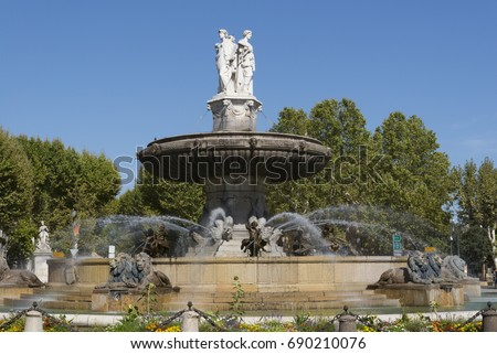 Fountain of La Rotonde Aix en Provence