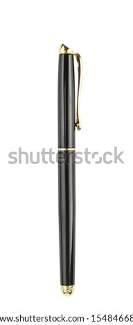Fountain pen isolated on white background - stock photo