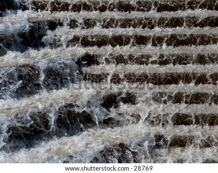 fountain steps - stock photo