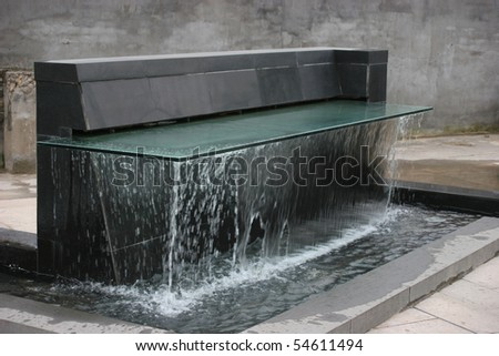 Fountain With water - stock photo