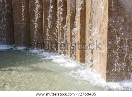 fountains in Pioneer Square - stock photo