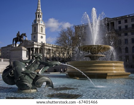 Fountains in Trafalgar Square
