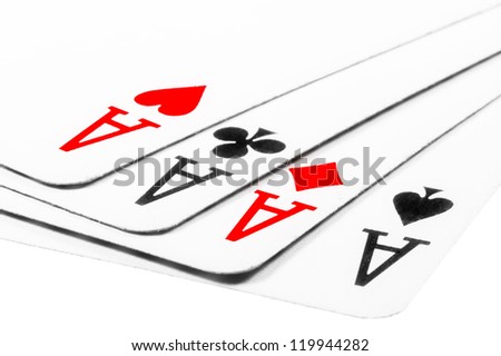 Four aces in poker - Kare - stock photo