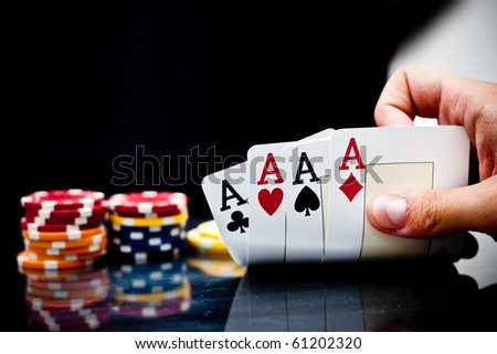 Four aces of a kind - stock photo