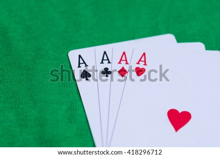 four aces on green