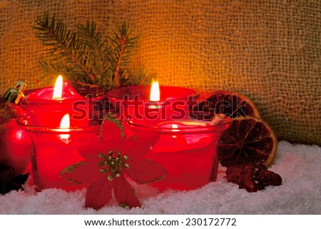 Four  advent candles isolated.