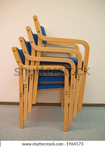 Four armchairs for office conference room, close-up - stock photo