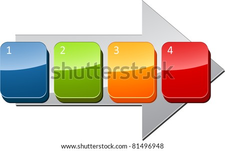 Four blank numbered sequential steps business diagram illustration - stock photo