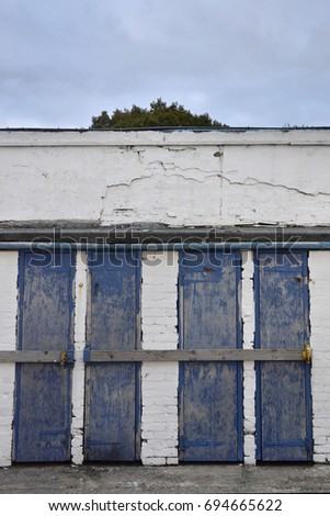 Four blue turnstile doors & Football Turnstile Stock Images Royalty-Free Images u0026 Vectors ... pezcame.com