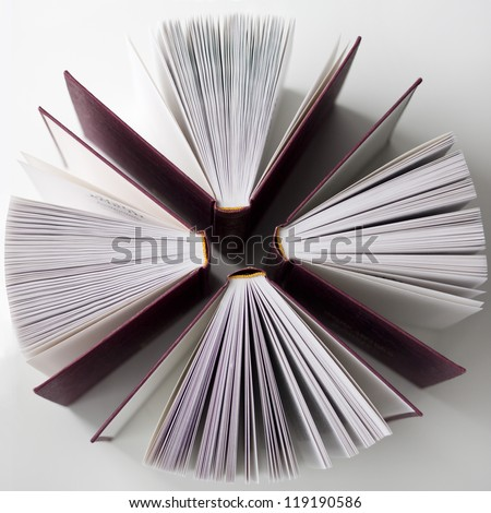 four books - stock photo