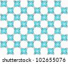 Four butterflies pasted at 45 degree angles, in a classic checkerboard pattern. Inverted cyan and gray butterflies, white background./ Butterfly Interlock Checker #3 / Classic looking style. - stock photo