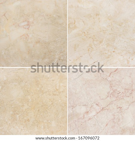 Four different texture of a light natural marble. (high.res.) See You please more marble, granite and other backgrounds in my portfolio. - stock photo