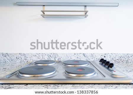 Four electric elements on a stove - stock photo