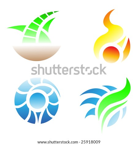 Element Symbols Earth Air Fire Water