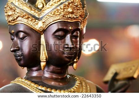 Four faces buddha Cholburi Thailand - stock photo