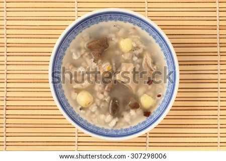 Four flavor herb soup - A Popular Taiwan food   - stock photo