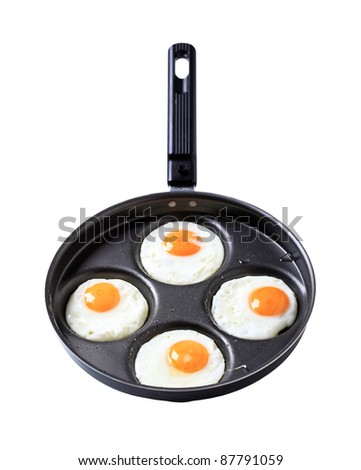 Four fried eggs - Sunny side up - stock photo