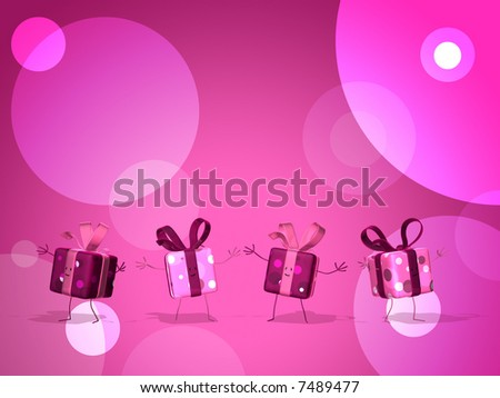 Four gifts - stock photo