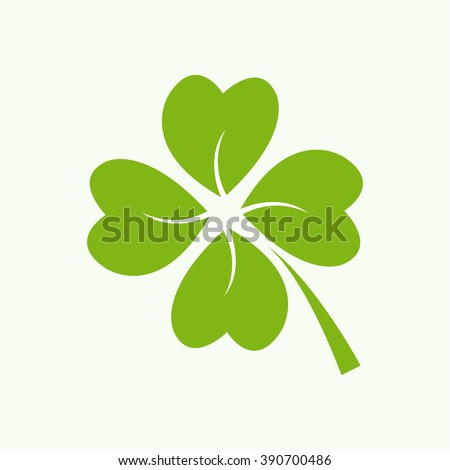Four green leaf clover - stock photo