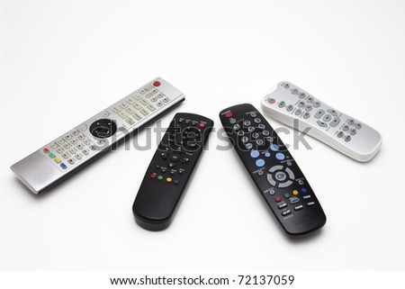 Four Kinds of Remote Controller - stock photo