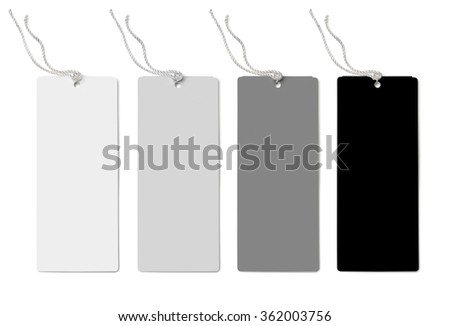four labels (tags) isolated on white background   - stock photo